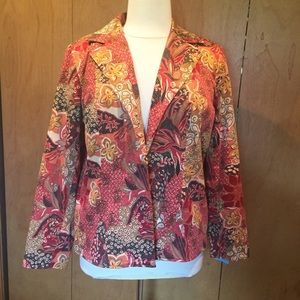 XL Coldwater Creek Blazer in the colors of fall